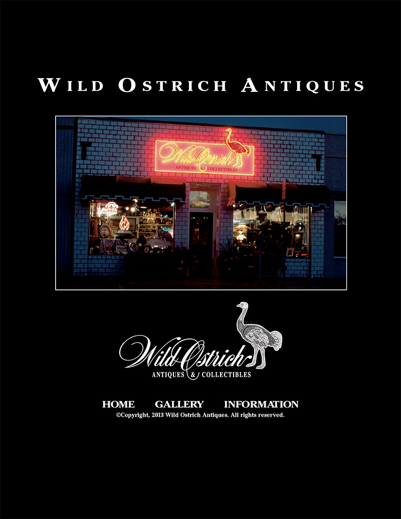 Wild Ostrich Antiques Home Page